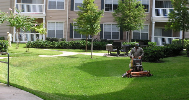 DFW Apartment lawncare grounds maintenance professional